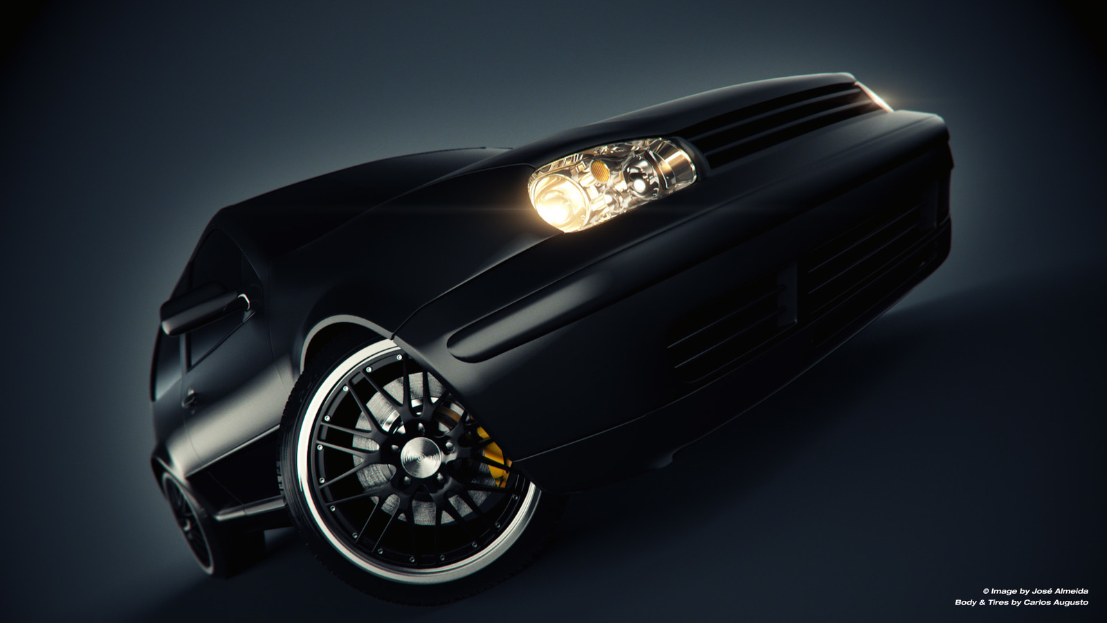VW Golf matte black