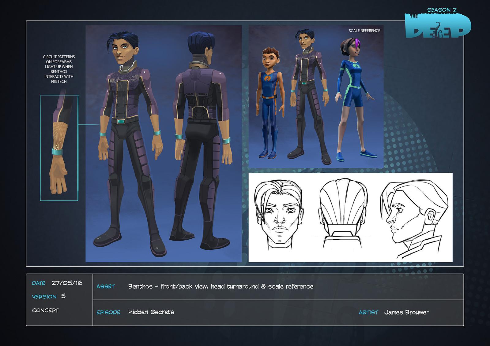 Final character design for Season 2 villain Alpheus Benthos.