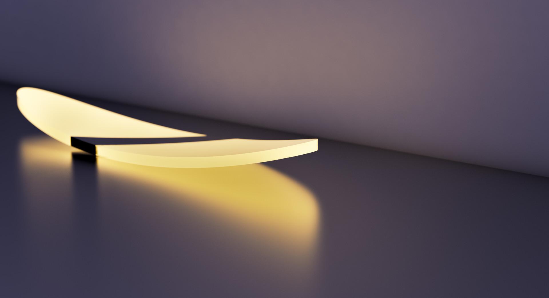 Artstation led lamp design rendering for opple lighting