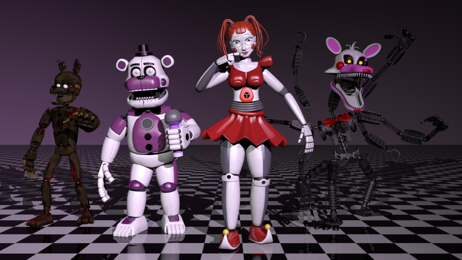 ArtStation - Five Nights at Freddy's: The Fourth Closet Fan-Made 3D