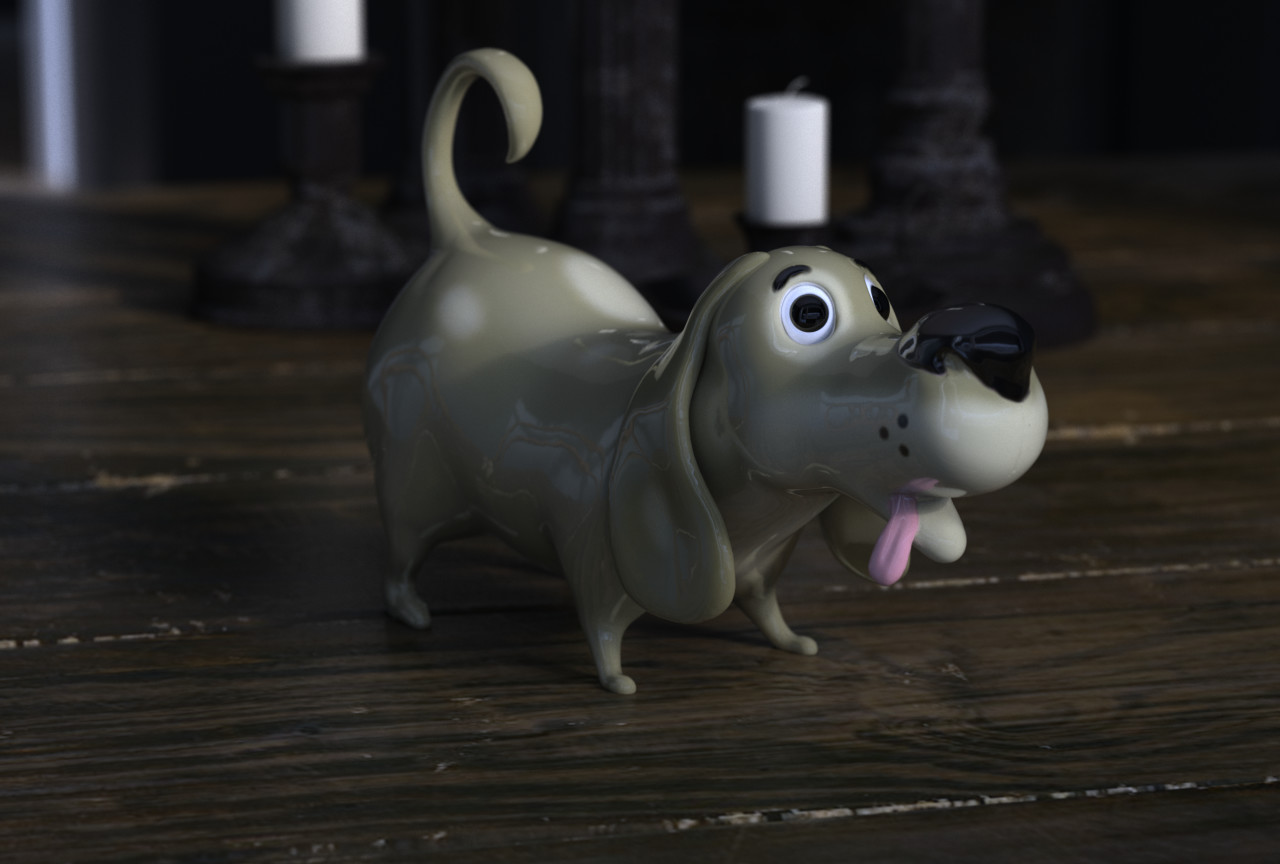 Cartoon dog for 3d printing