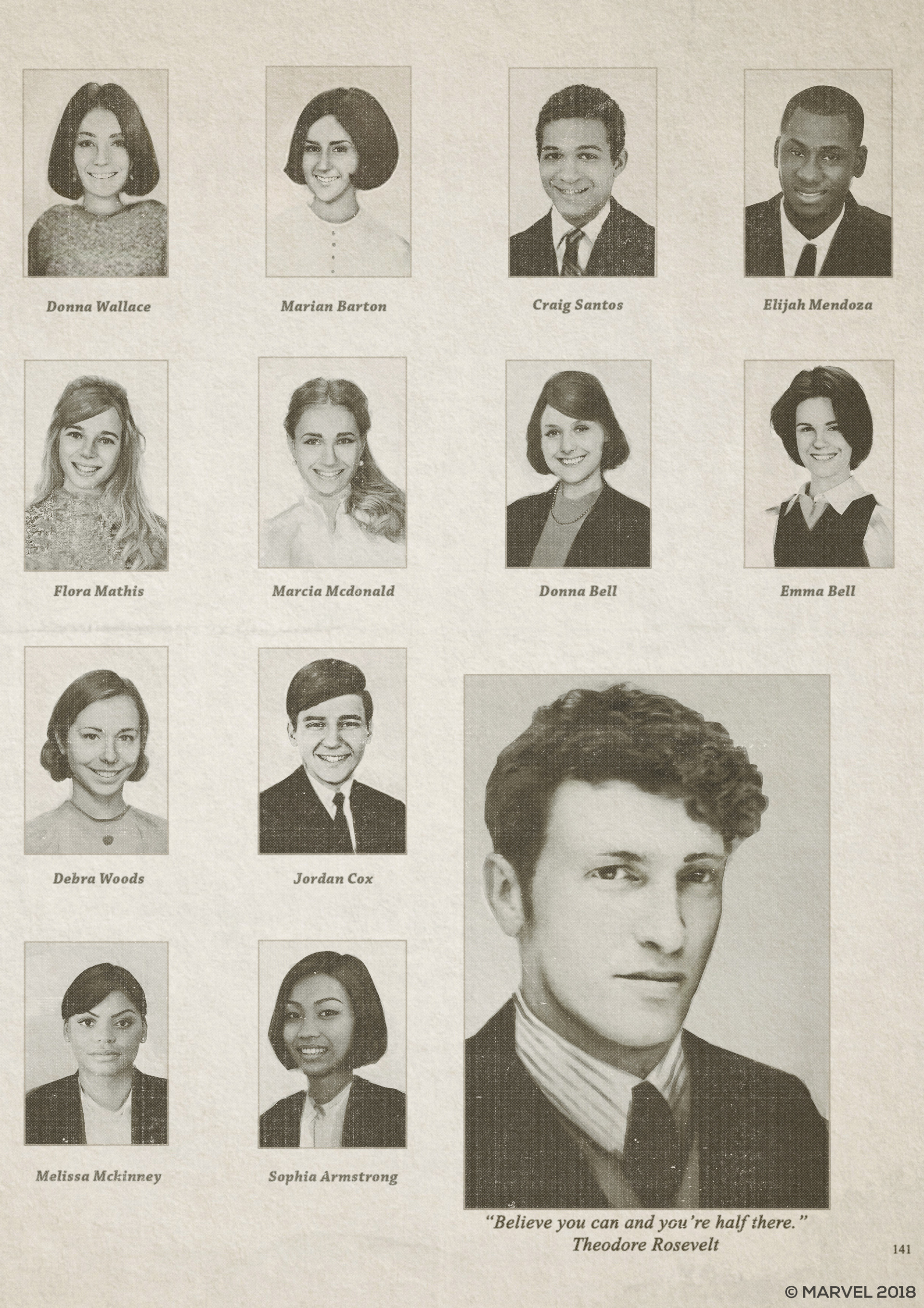 Young Norman's yearbook.