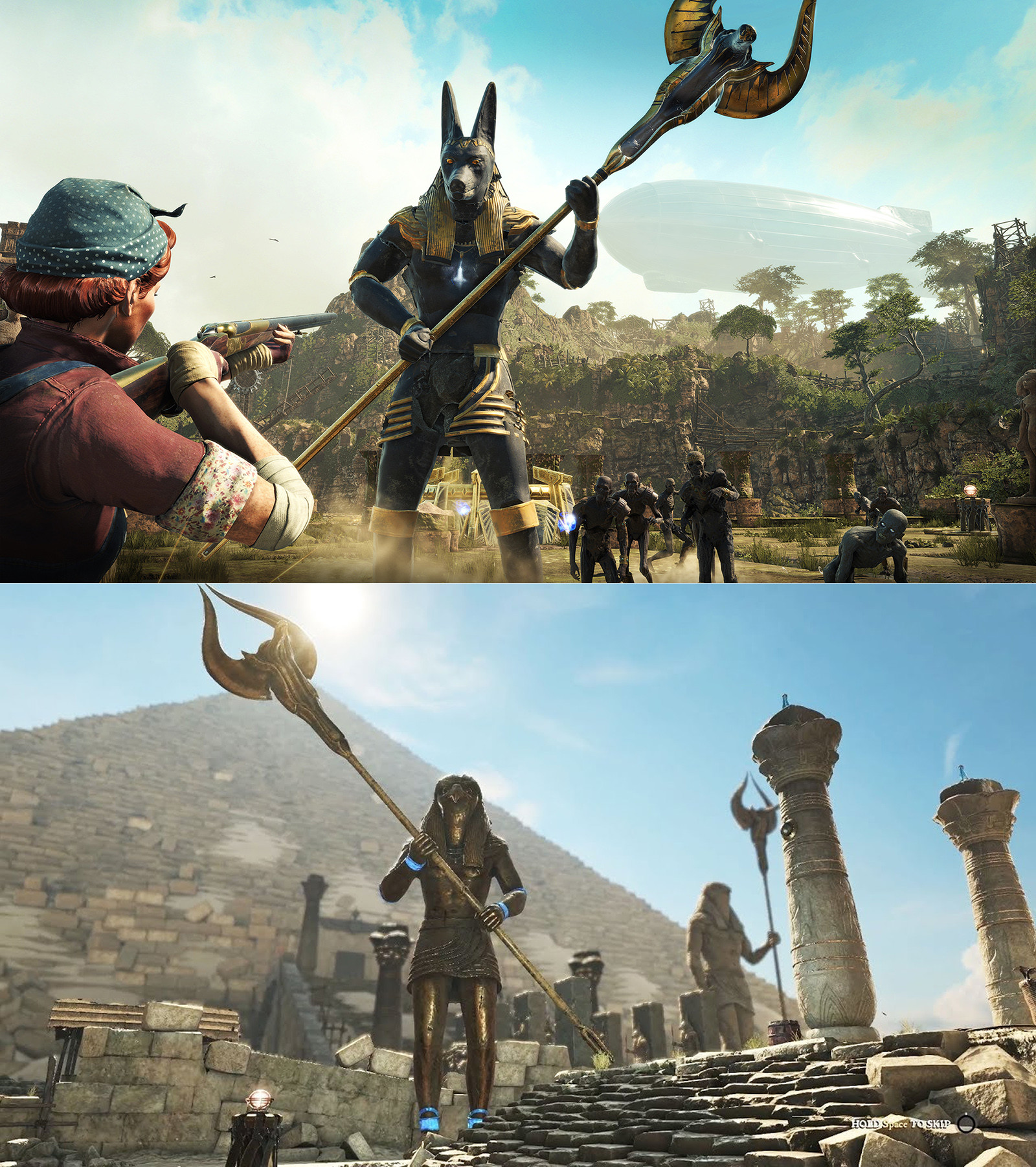 Statues went on to become bosses in the final game.
