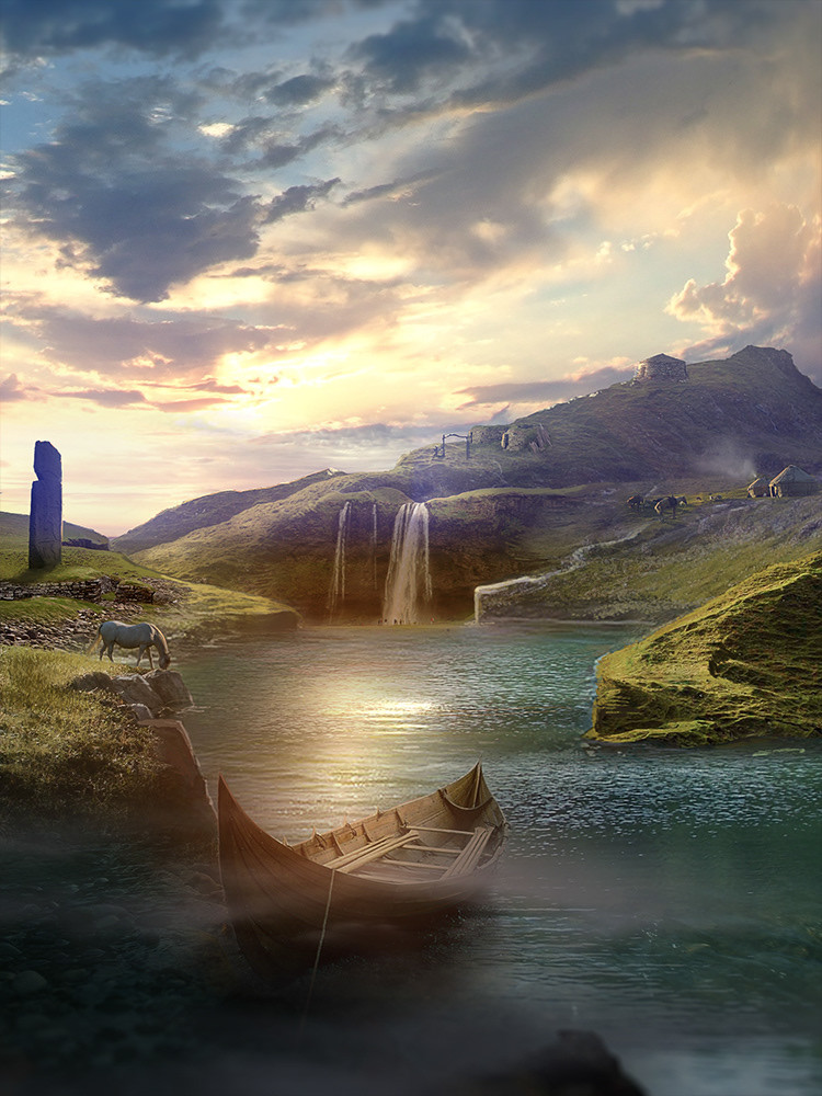 Mattepainting for Tarlogan