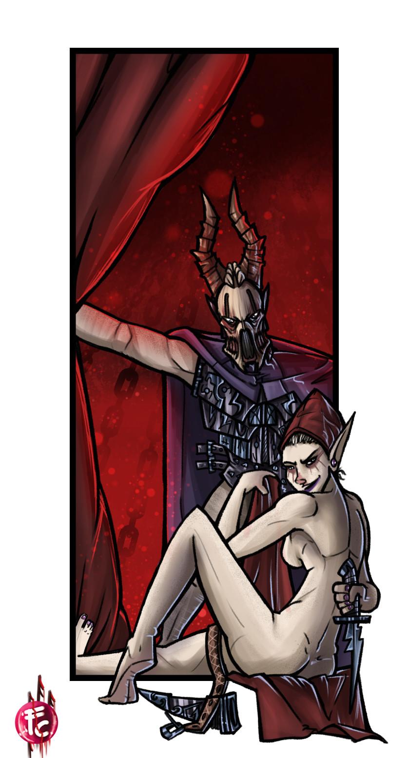 Dark Eldar Archon with her Bodyguard