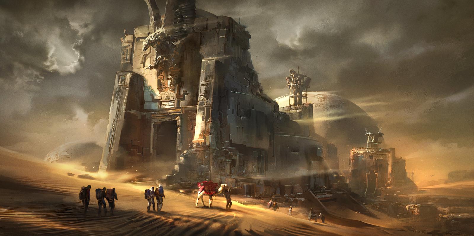 Eagle temple ruins