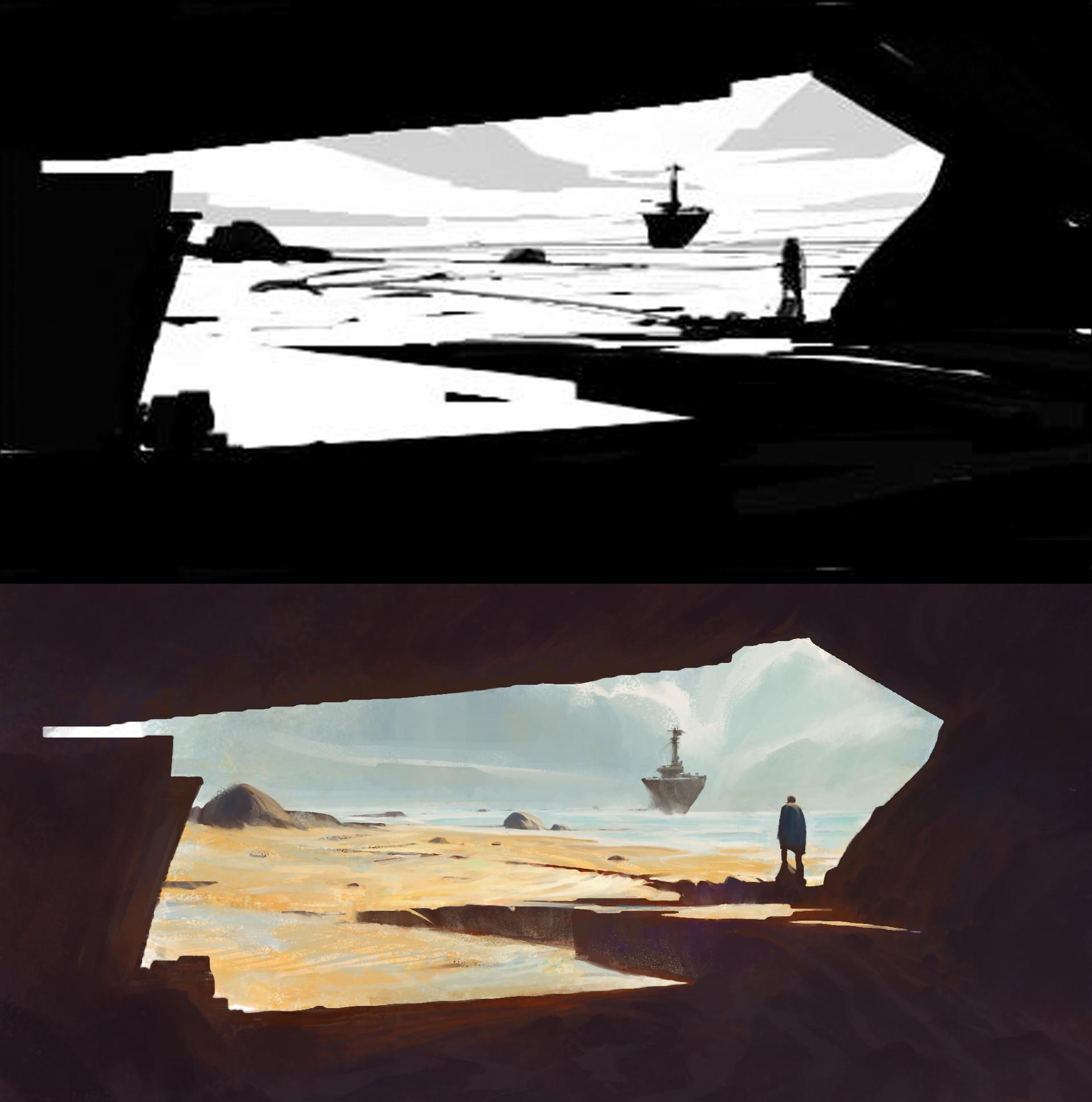 Sathish kumar environment painting ship arrival 01