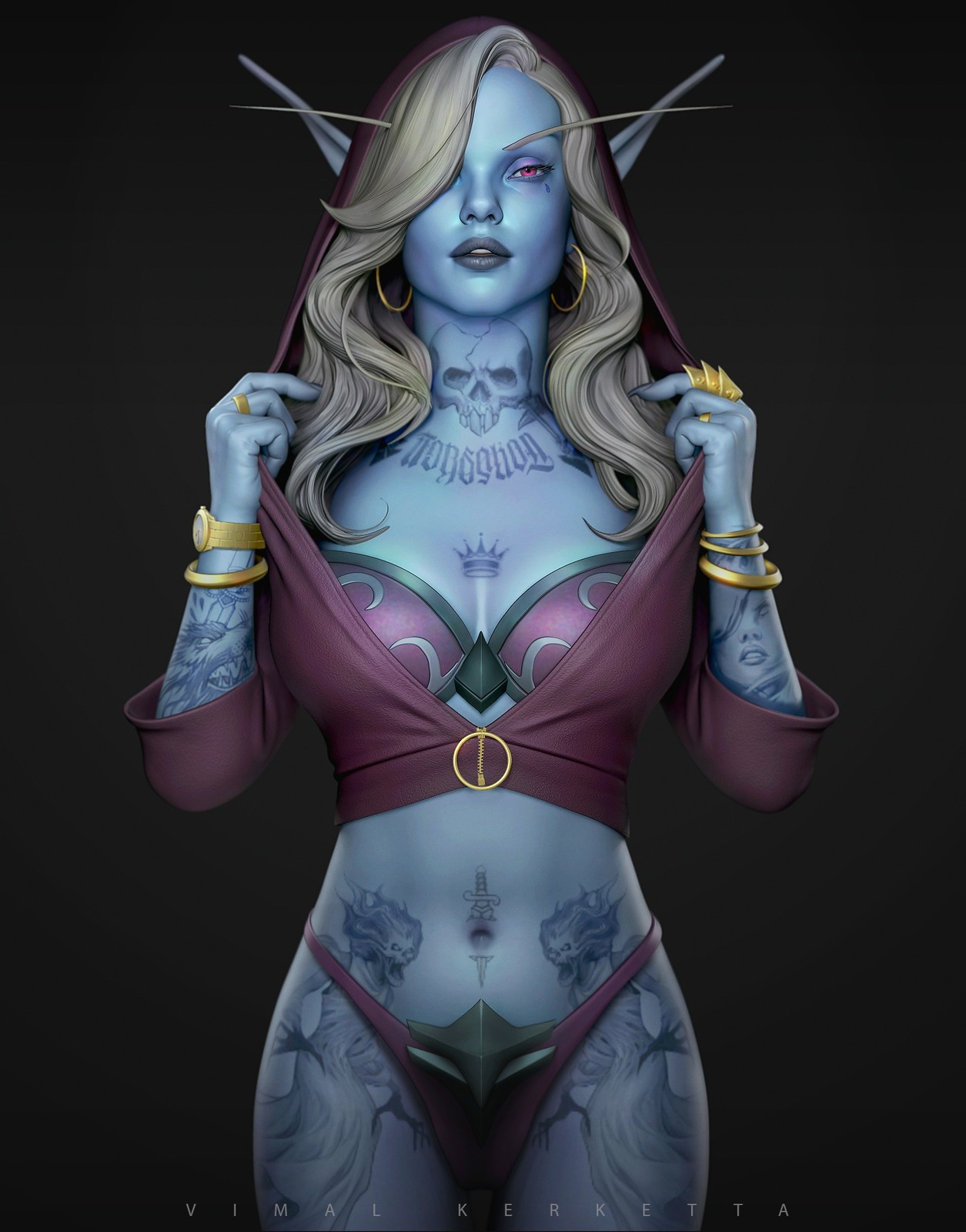 Sylvanas Windrunner - Fan art 3D