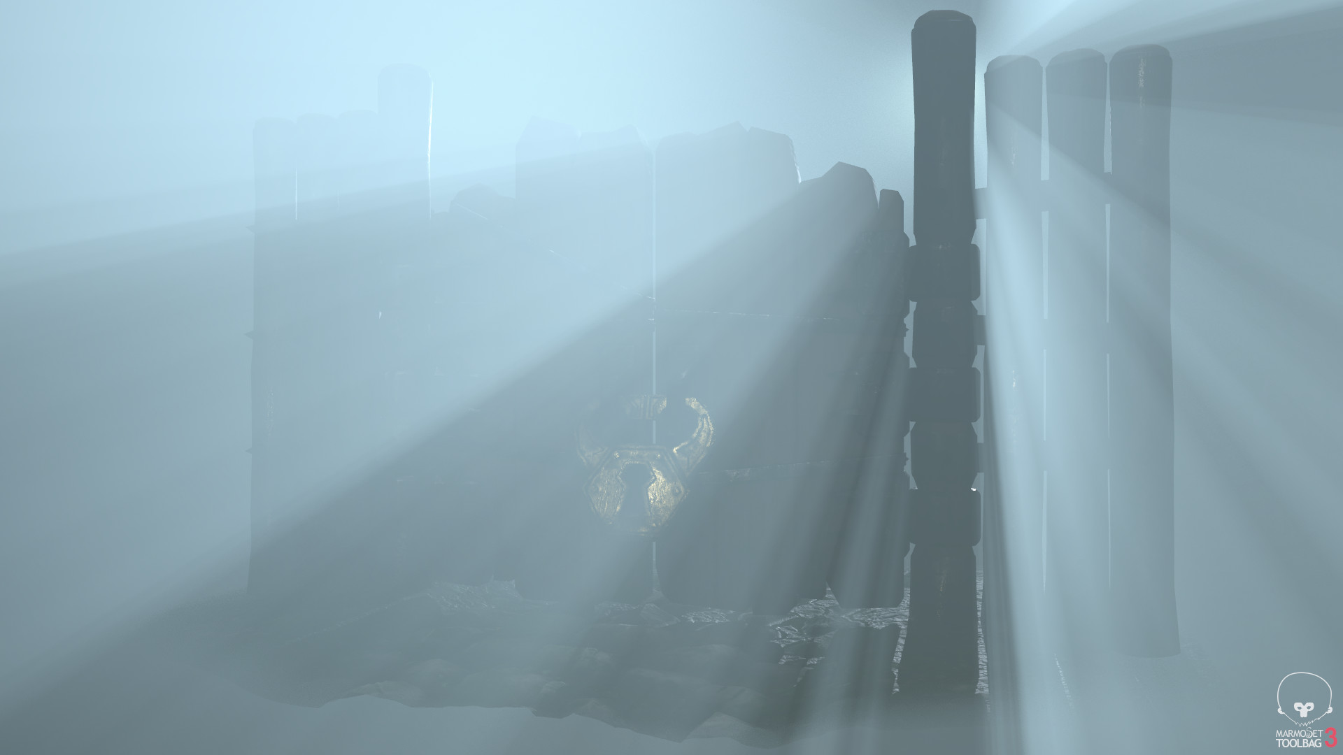 Having some fun with the fog in Marmoset Toolbag.