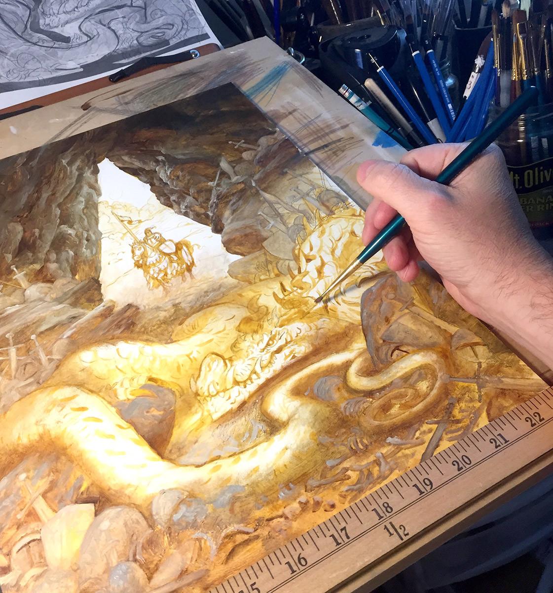 Oil Painting Progress