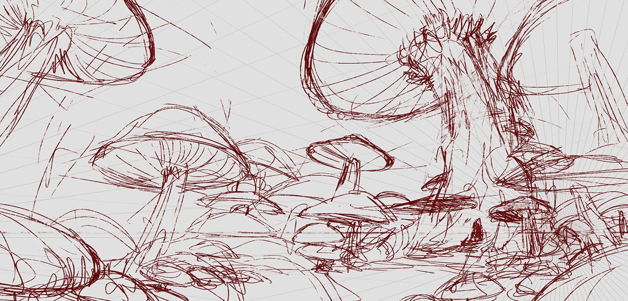Initial line sketch
