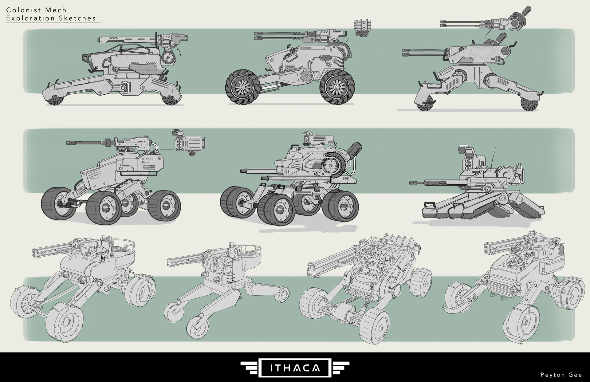 ArtStation - Colonist Attack Buggy, Peyton Gee