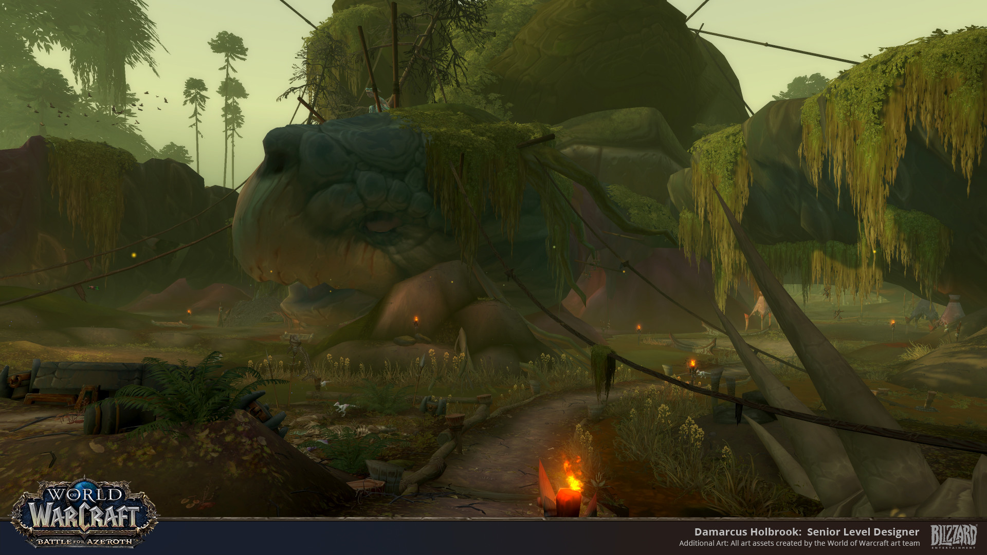 ArtStation - Nazmir world Building: Battle for Azeroth World of