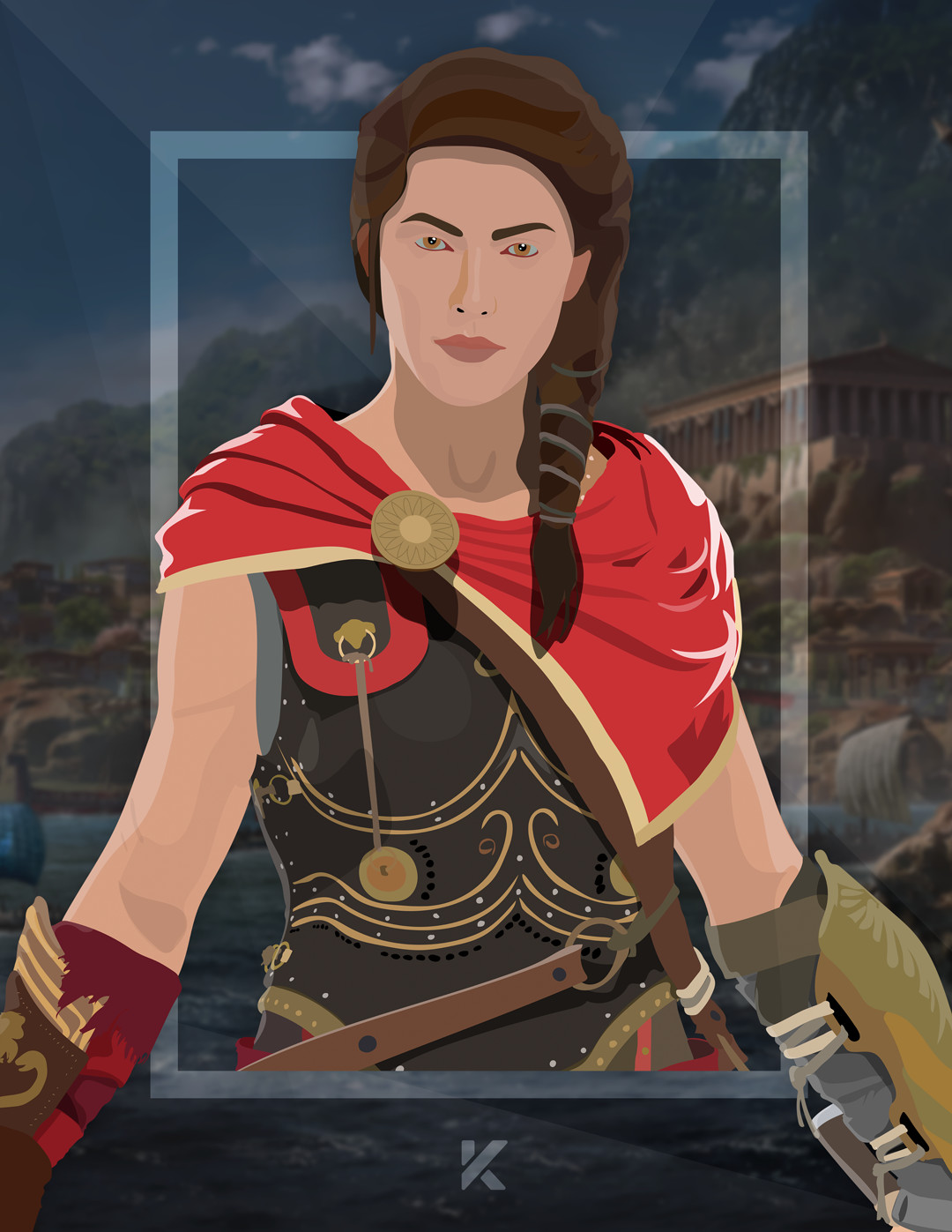 Artstation Assassin S Creed Odyssey Kassandra Fan Art Nicolas Rodriguez