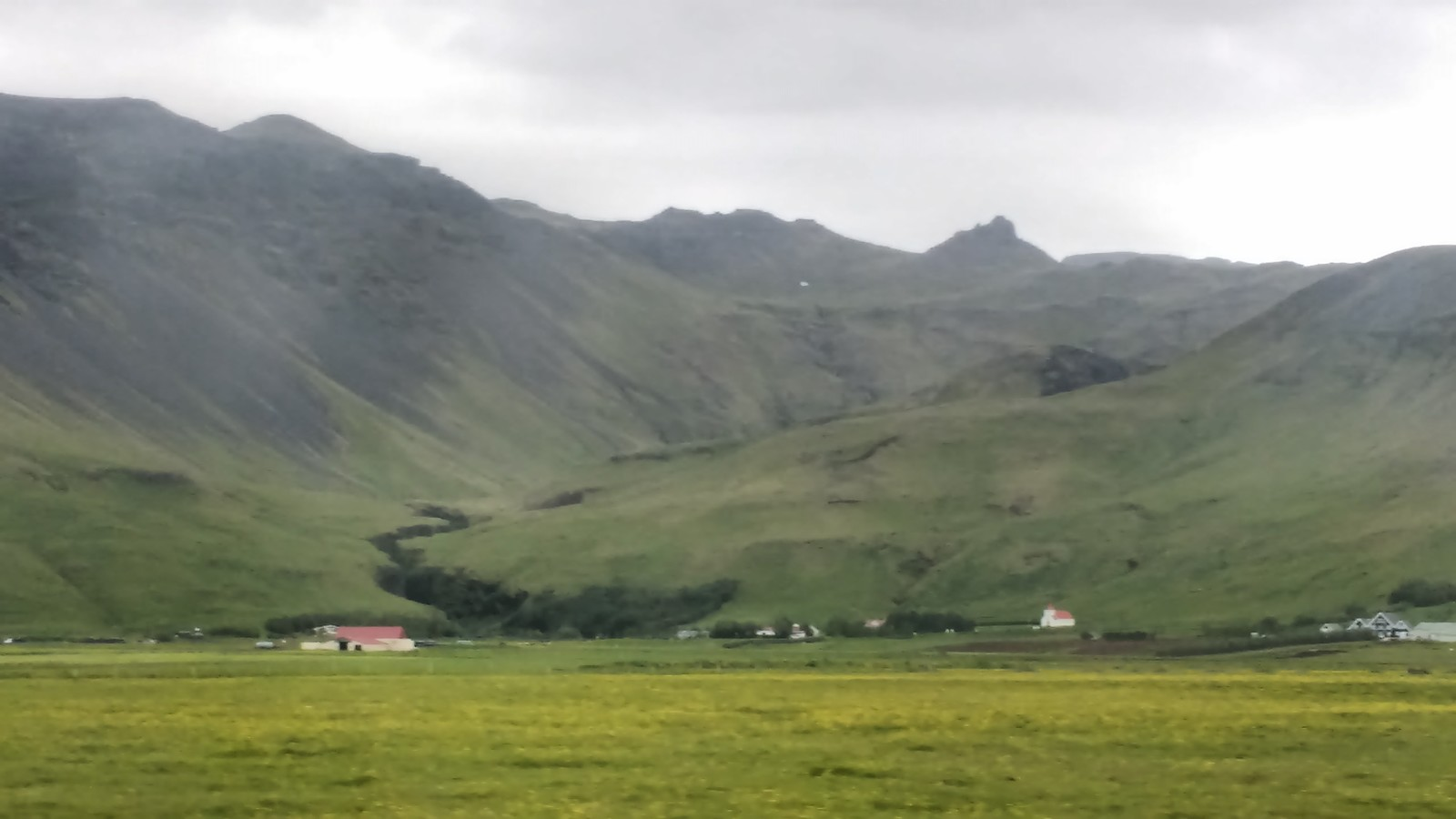 My own picture from Iceland, taken from inside the window of our beleaguered Toyota Aygo