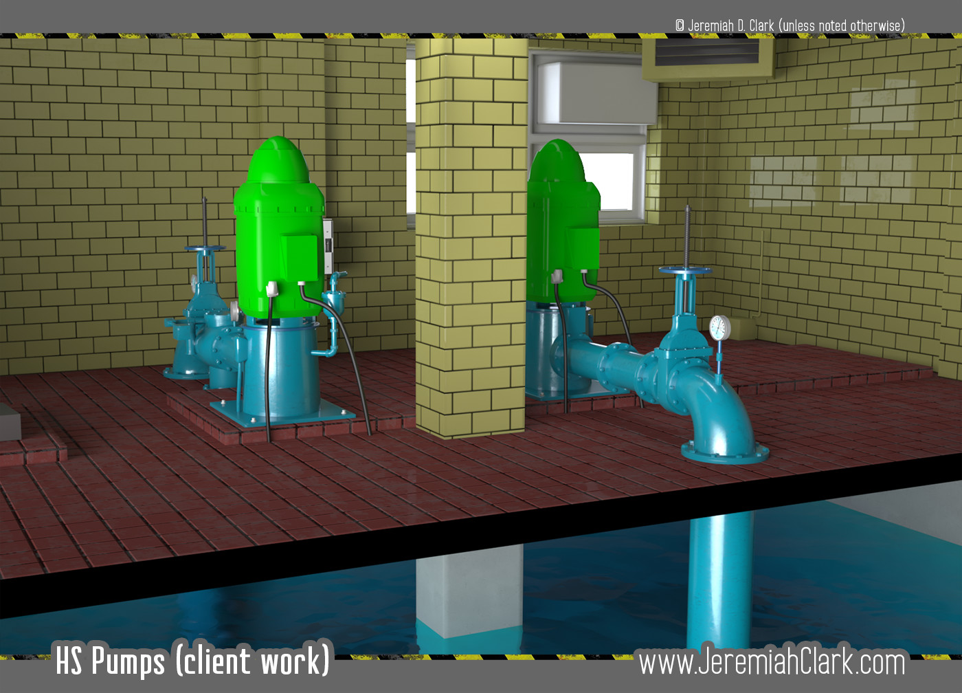 HS Pumps Screen. Modeled and textured in 3Ds Max. Rendered with V-Ray.
