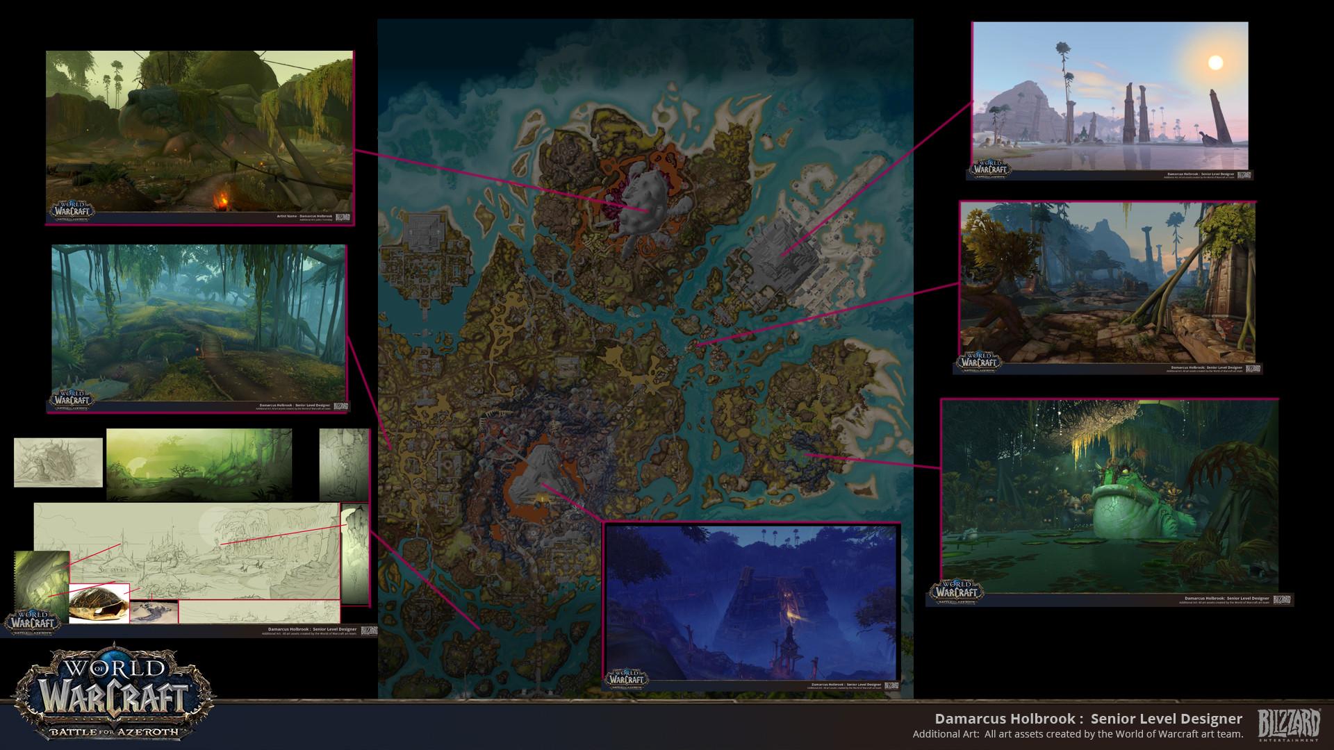 ArtStation - Nazmir world Building: Battle for Azeroth World