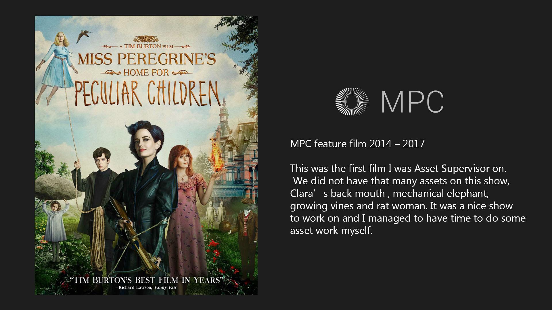 Artstation Miss Peregrine S Home For Peculiar Children