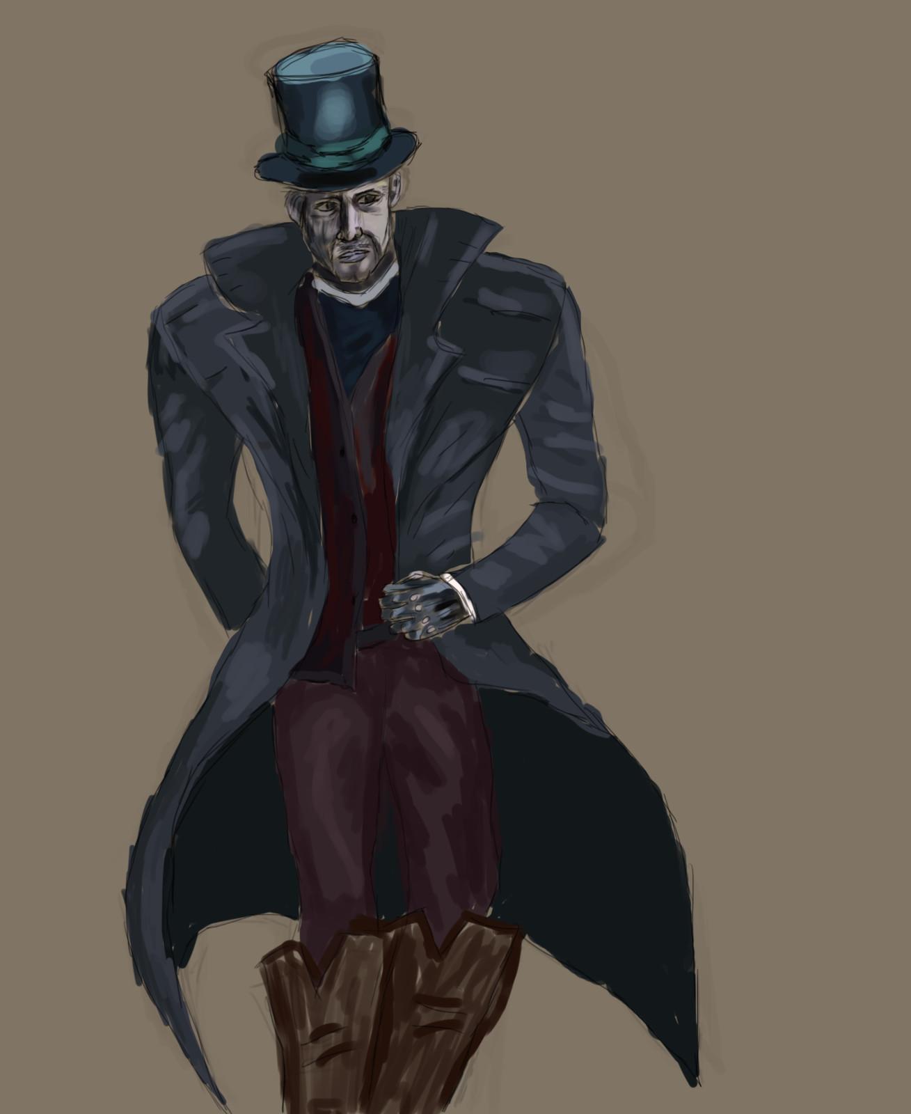 Concept Art for a Victorian Villain character