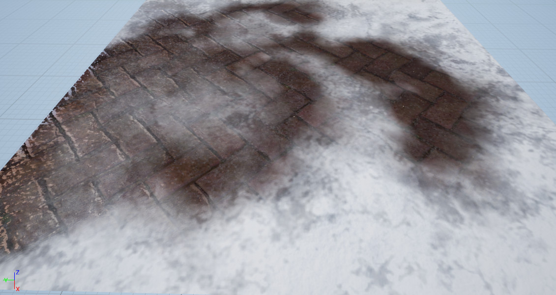 Vertex Painting Snow on Stone Path #1