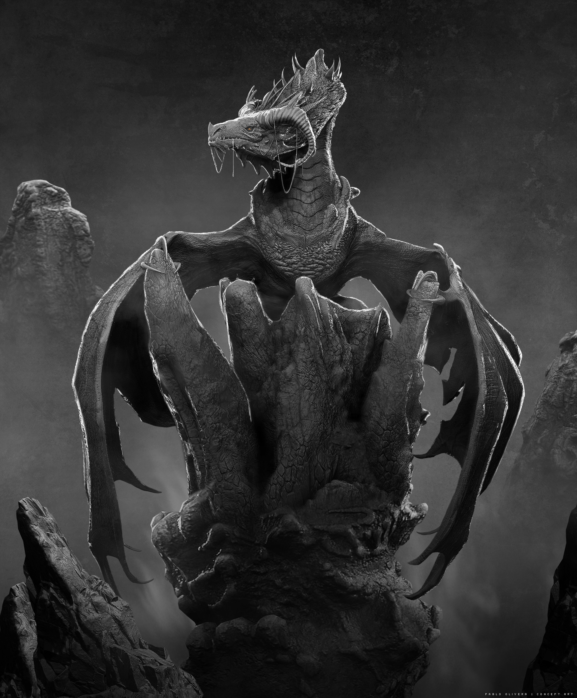 Pablo olivera dragon king wacom zbrush 10