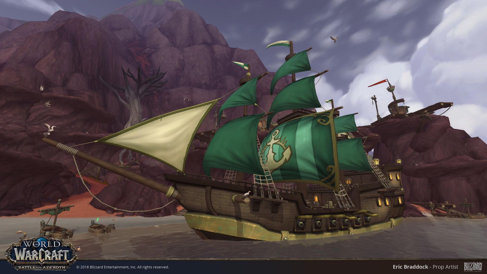 Eric Braddock Kul Tiras Proudmoore Ships World Of