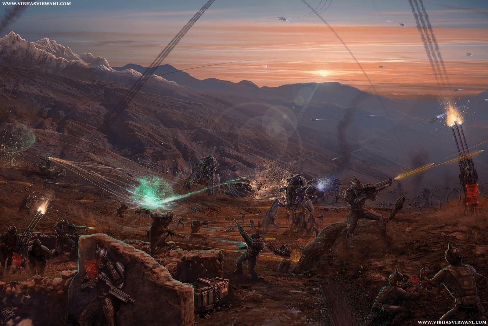 "Book cover commission : Paizo inc's vol. 2 ""Astounding futures: Infantry"""