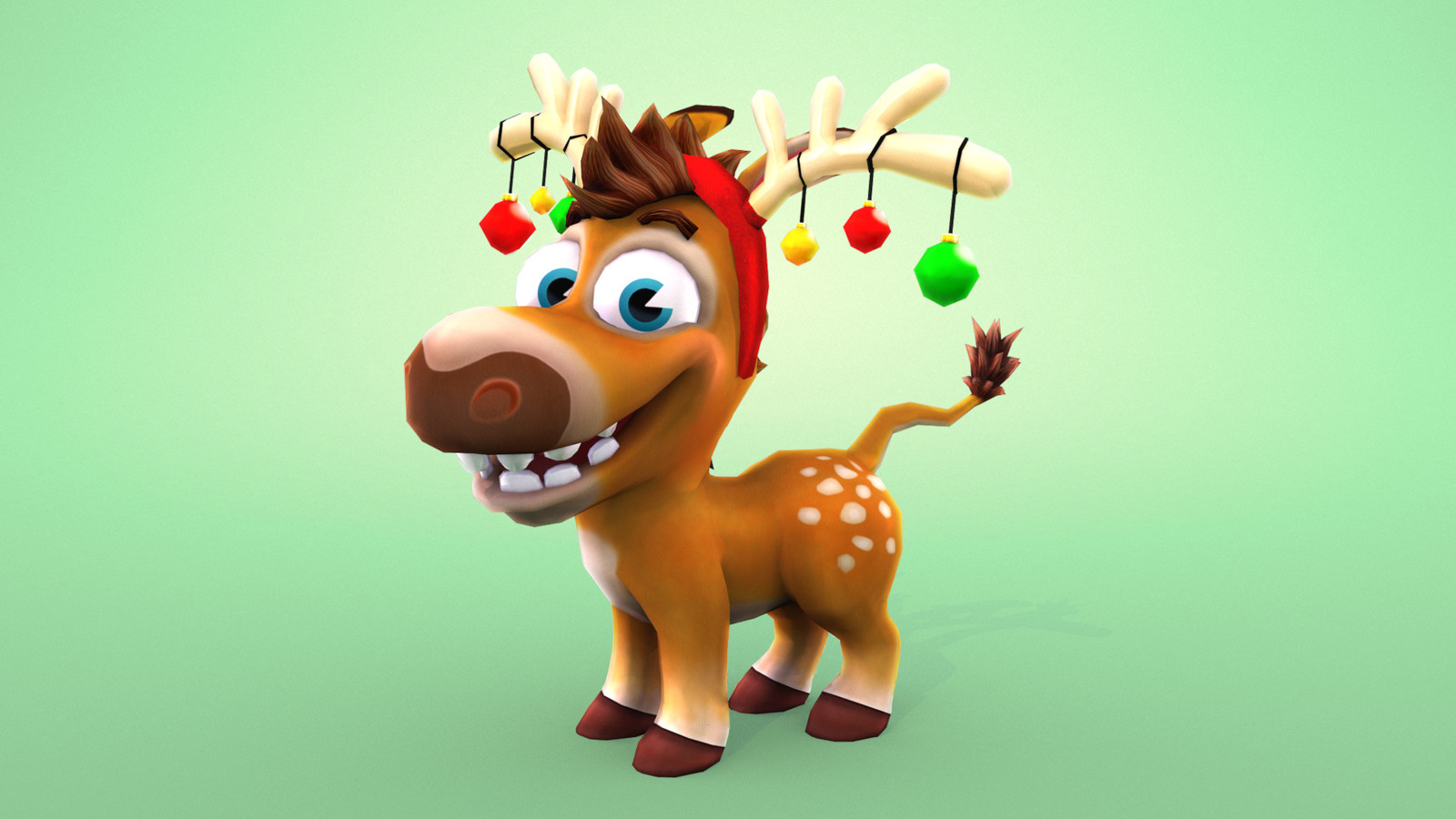 Purchasable Character Wearable and Skin. Deer antlers with baubles.