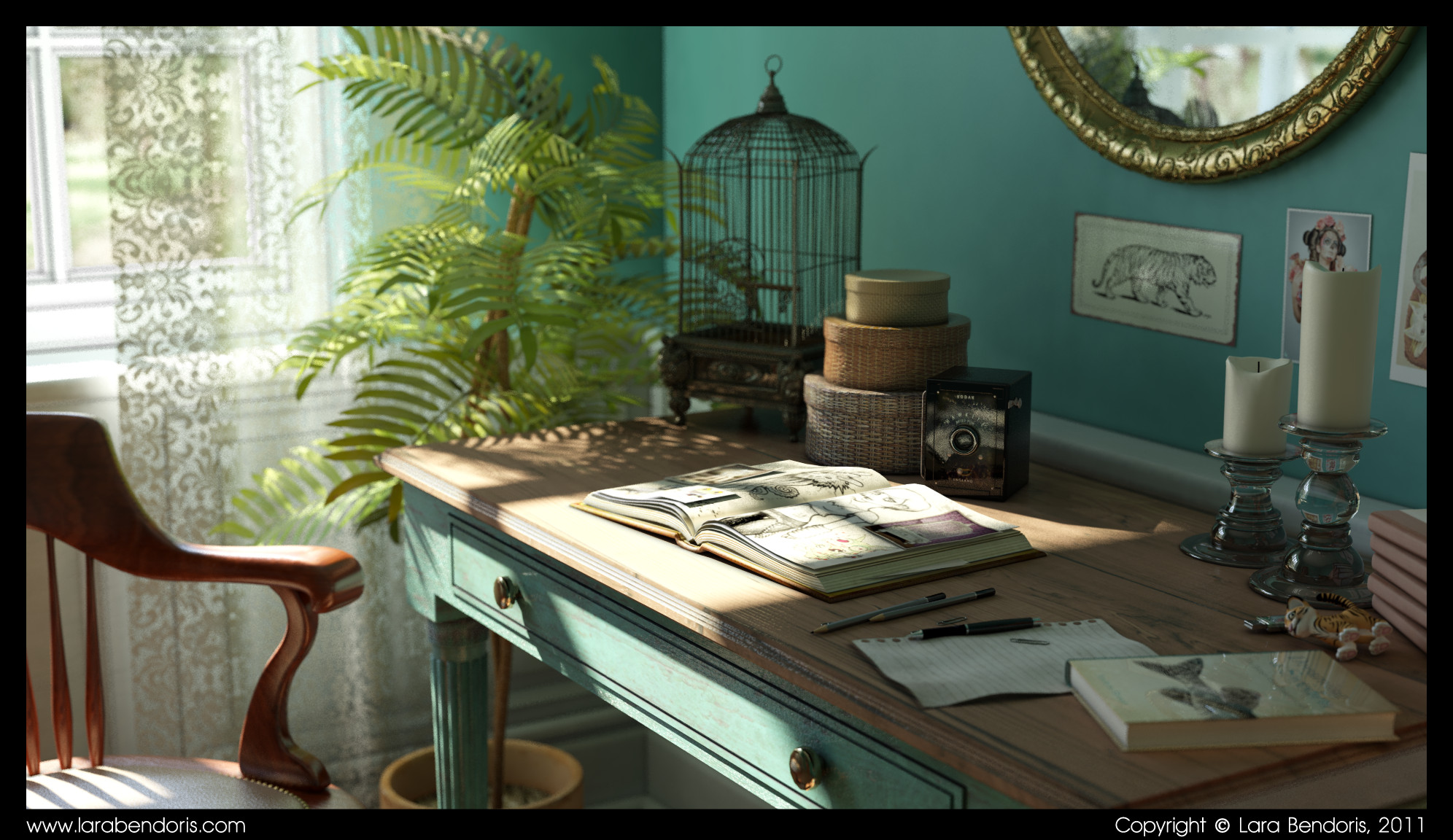 Interior modelling, texturing and lighting study