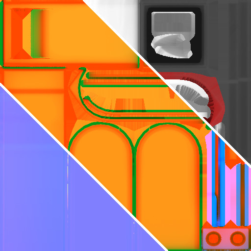 Trash Bin - Main Texture Set Breakdown Size: 512x512