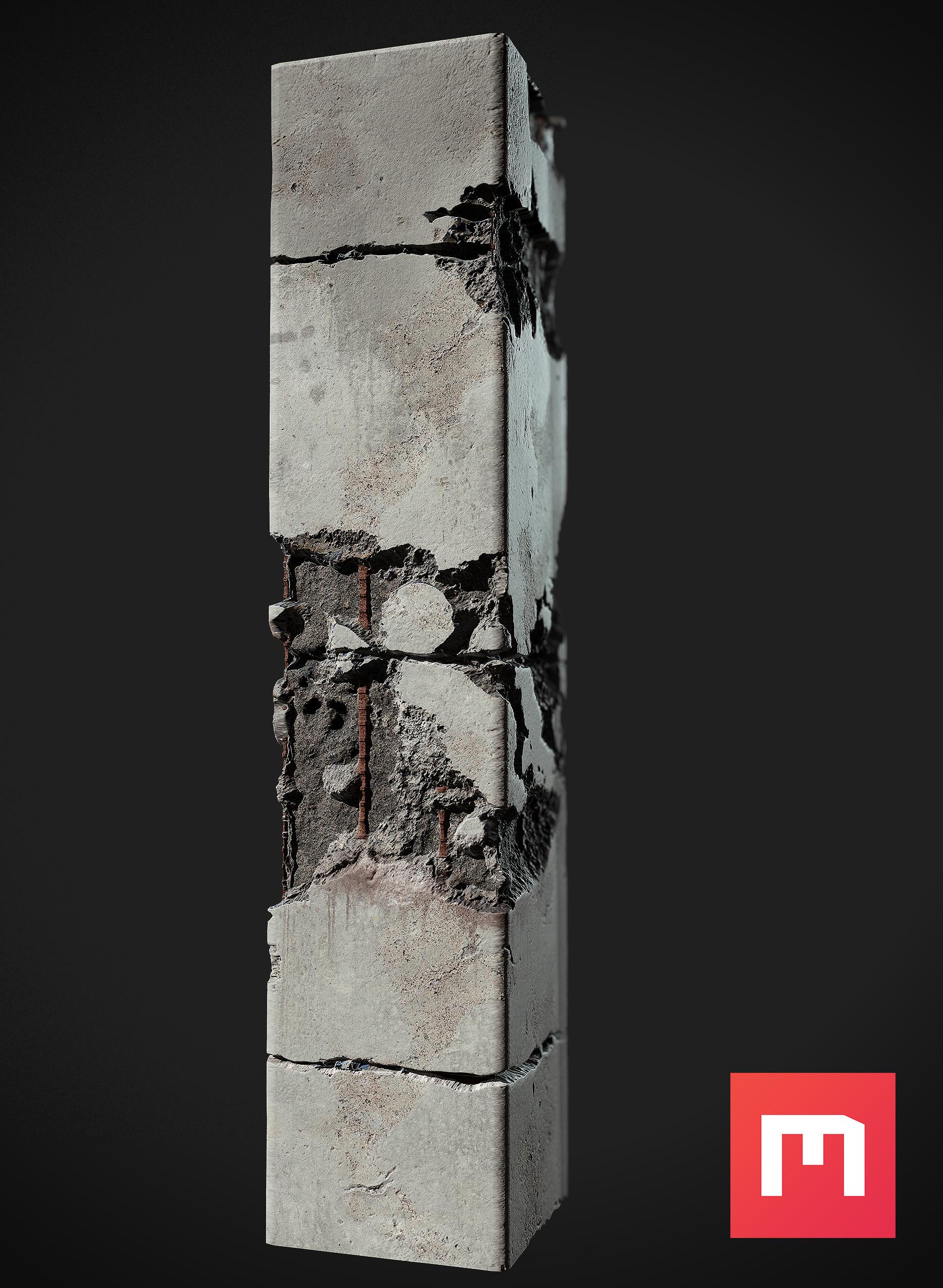 Wiktor ohman concrete pillar