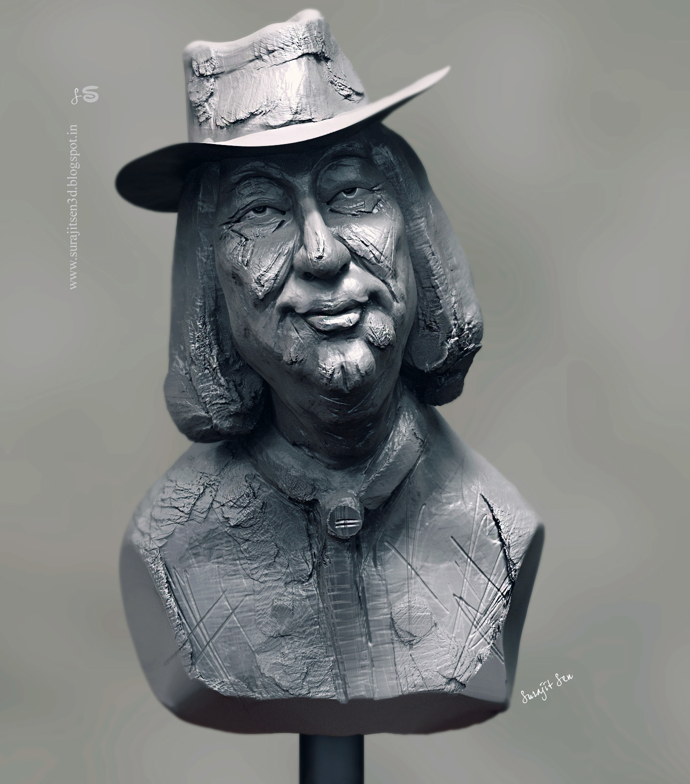 Surajit sen thai man quick sculpt by surajitsen