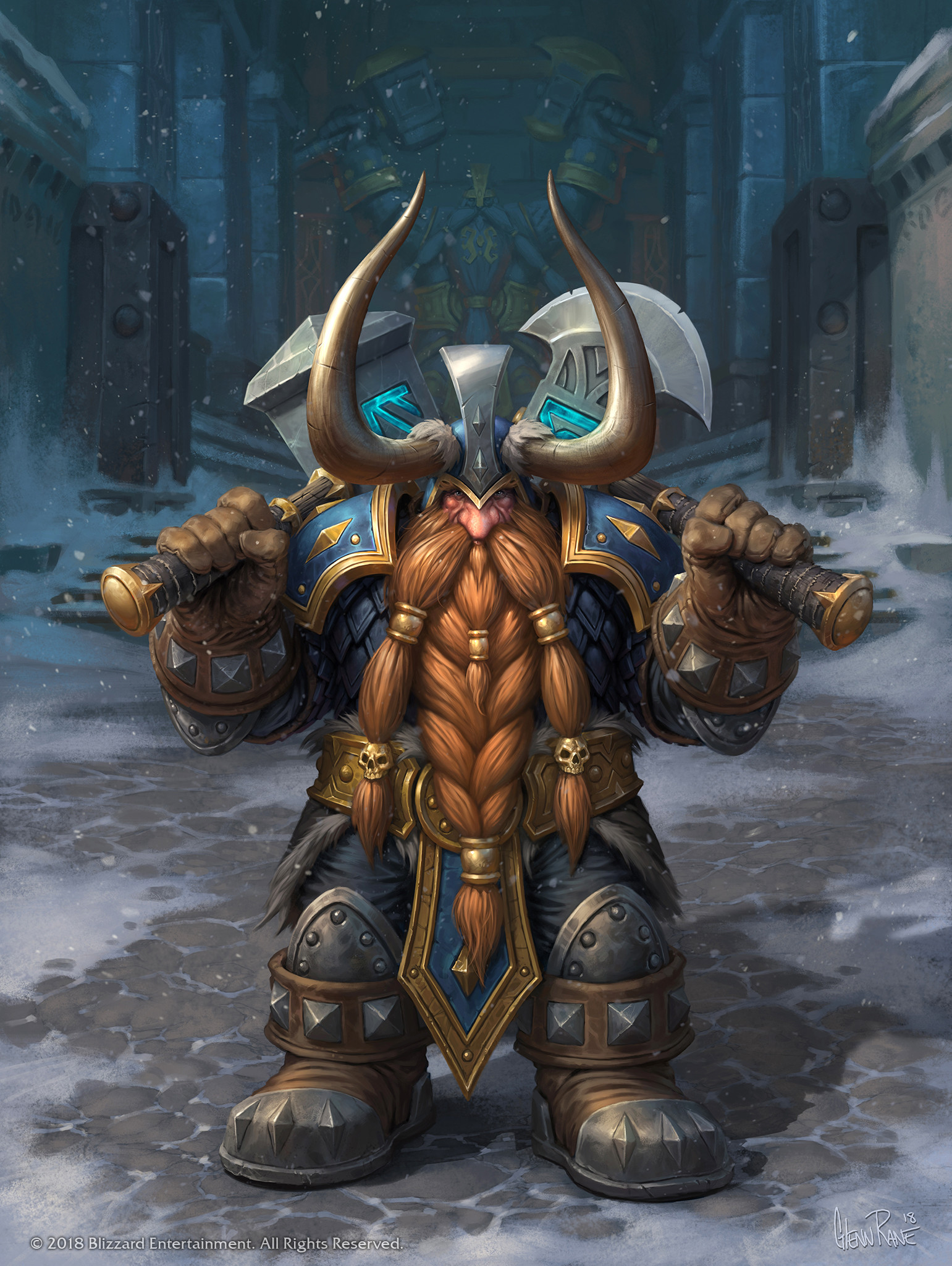 Can Warriors please be able to Transmog 2 handed into 1