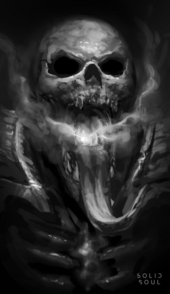 Eric hallquist smoker skull sketch