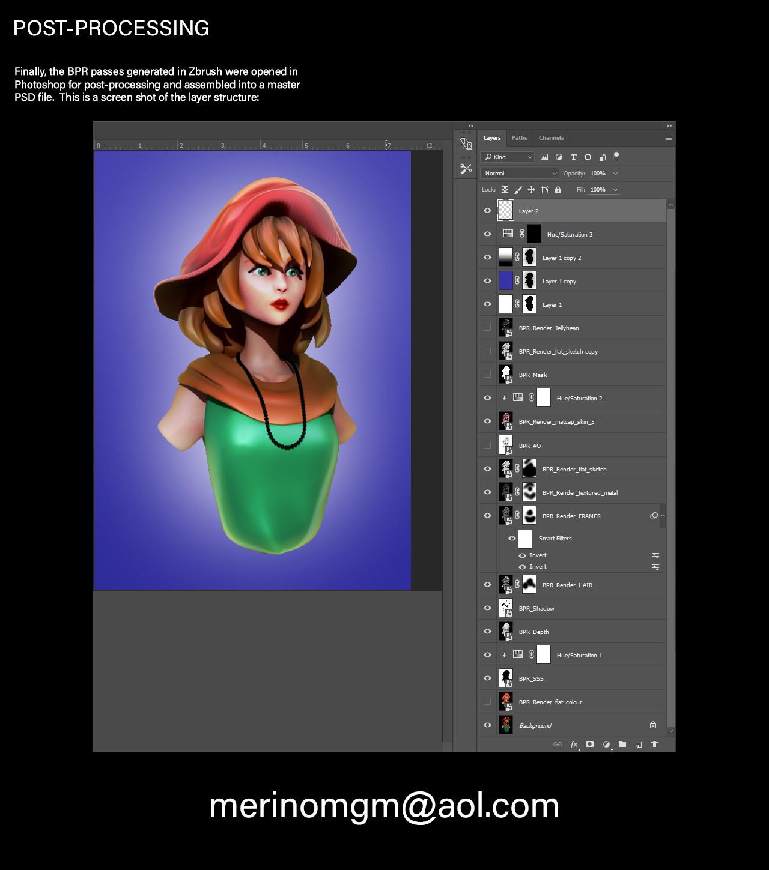 Mario merino girl post processing