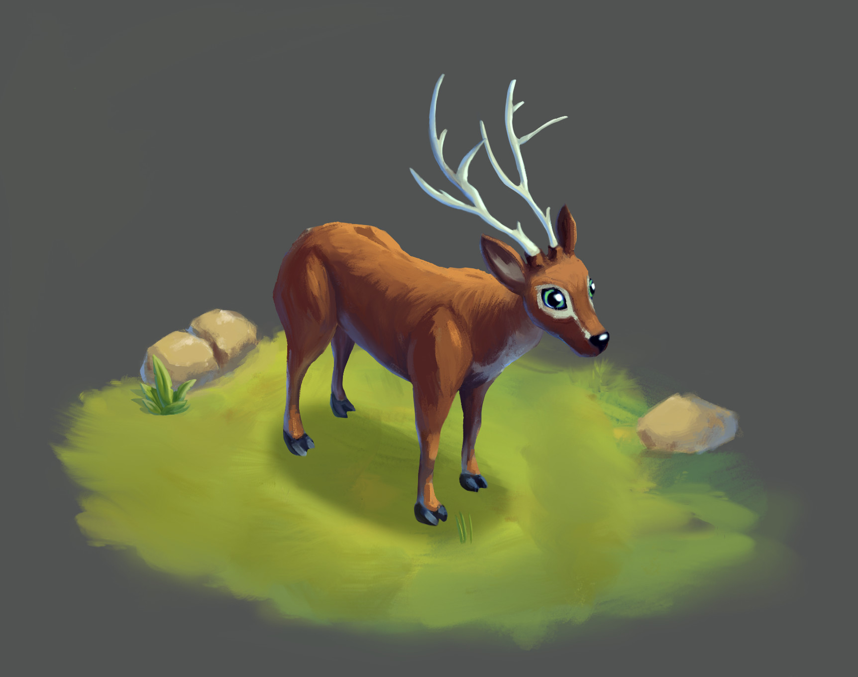 ArtStation - Deer  Spine 2D Animation Test, Art  Ankhn