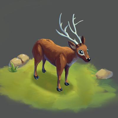 Art ava ankhn deer for spine