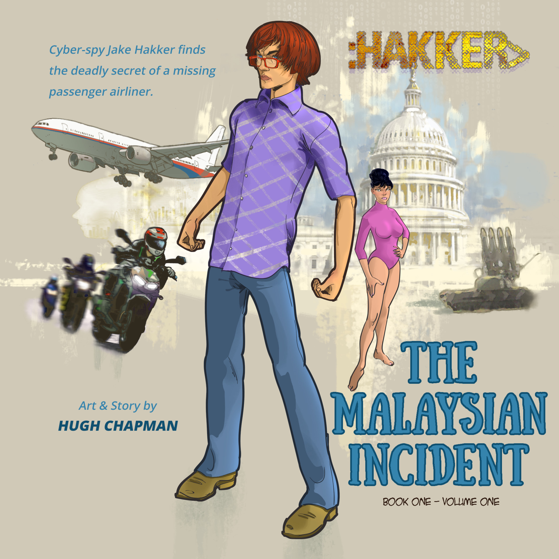 An Instagram cover(?) for the first book, The Malaysian Incident