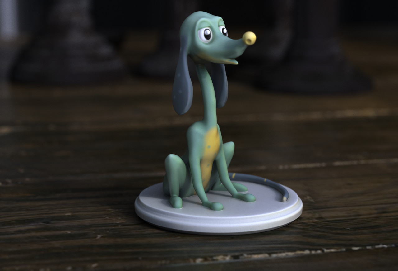 Cartoon dog for color 3d printing