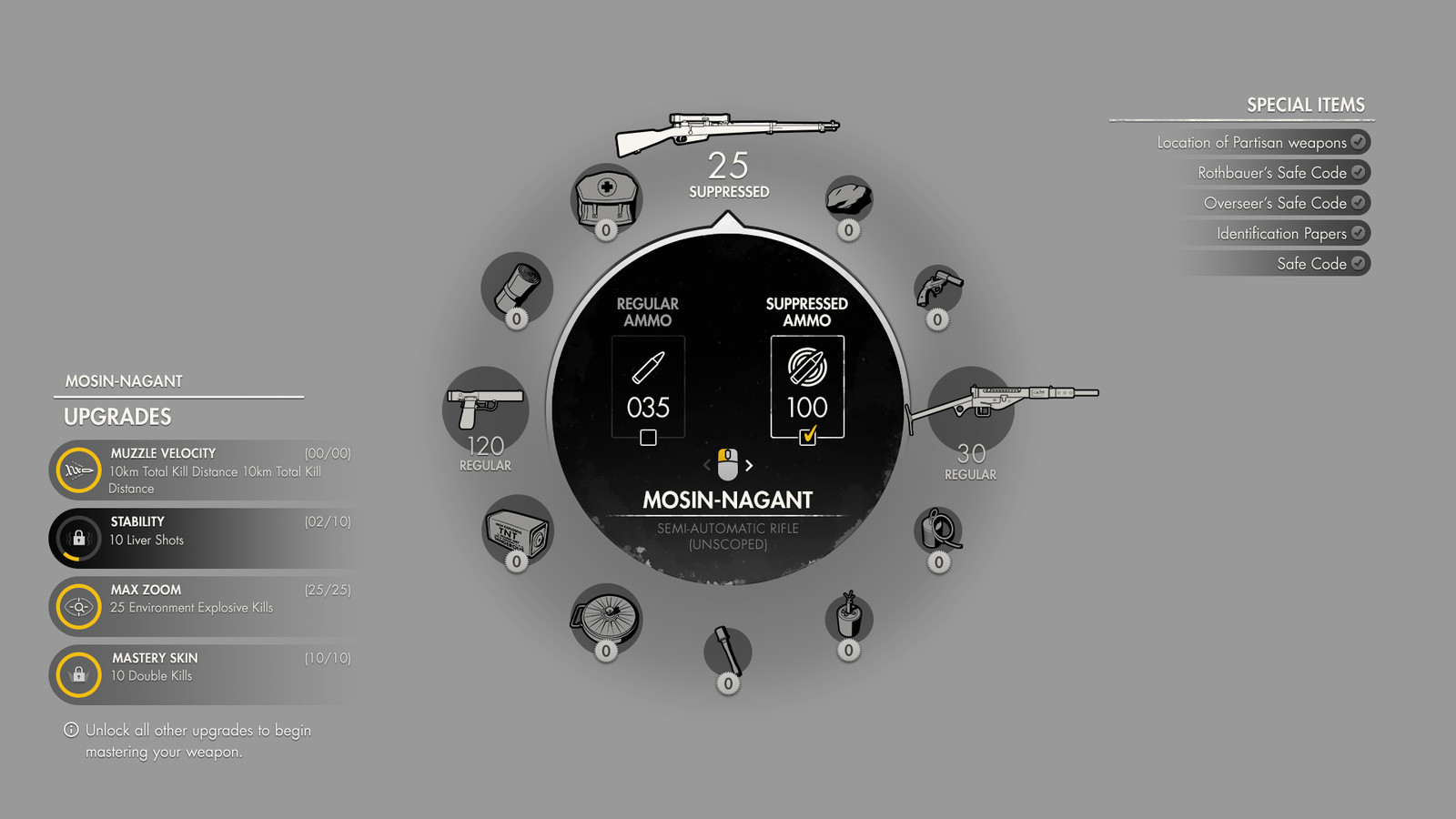 As the design of the Radial Wheel was fleshed out, additional gameplay information was added.