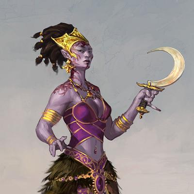 John paul balmet npc bahmi afemale priestess 01