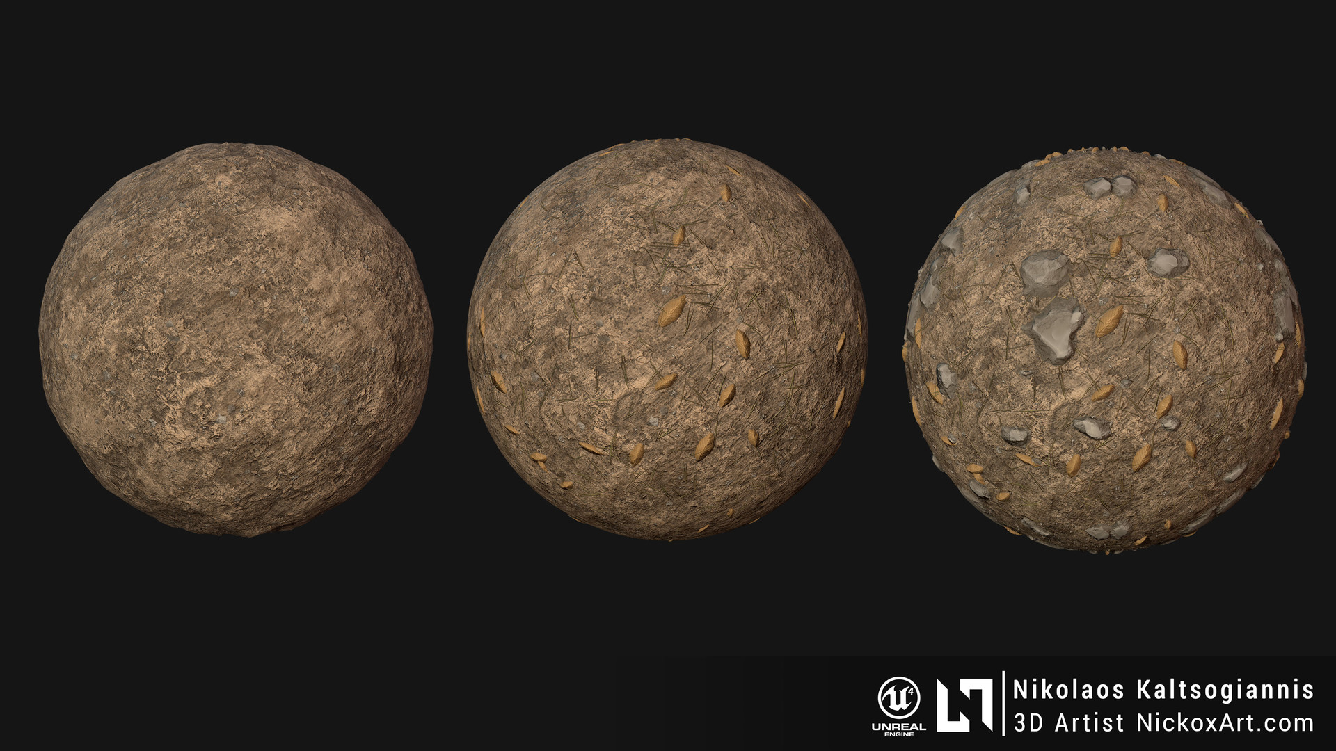 Procedural Ground Material 100% Substance Designer.