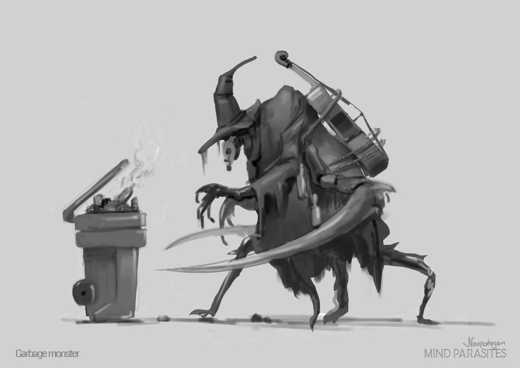 Garbage monster sketch