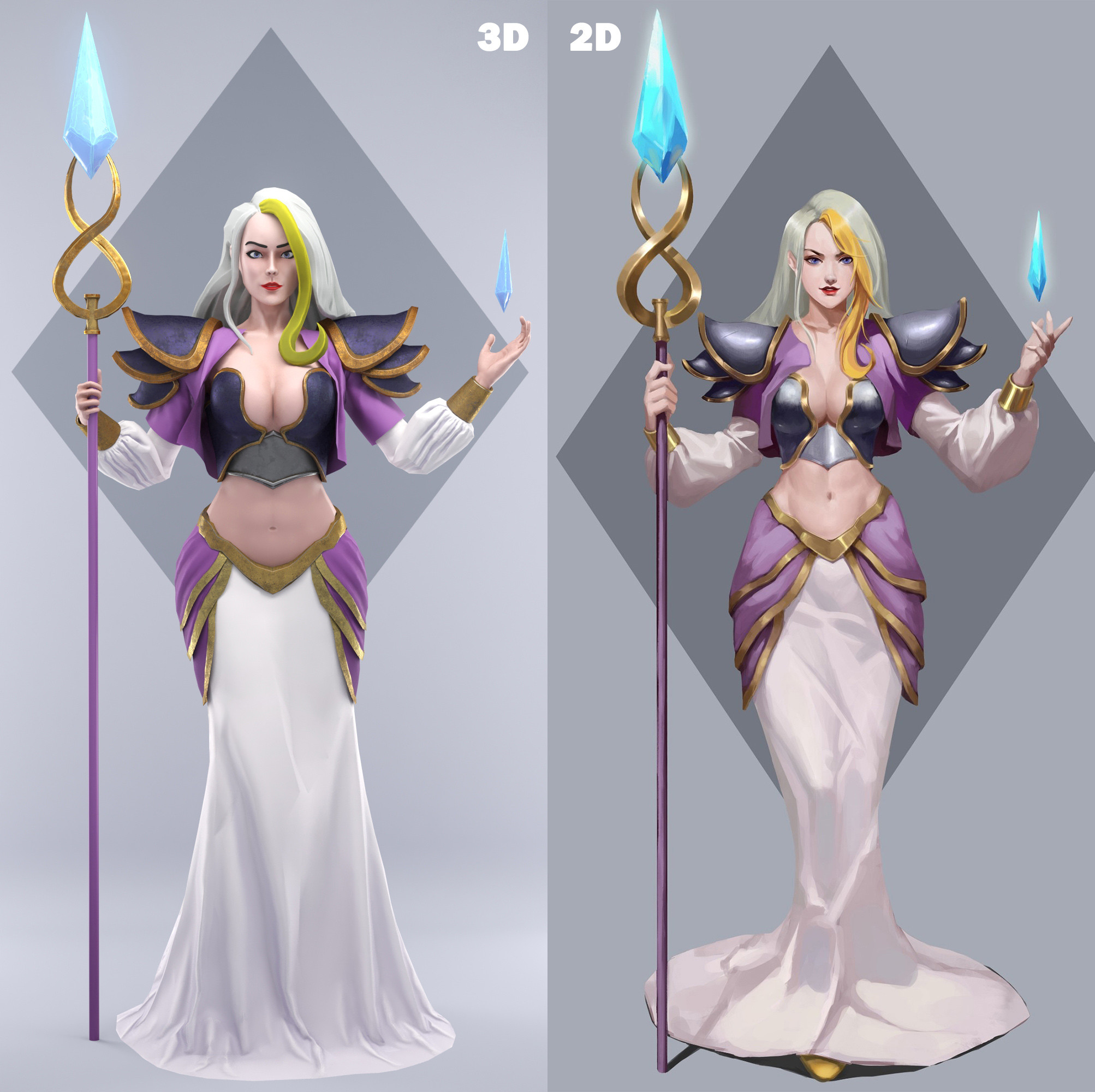 from the 2D concept of Jiu Niang to 3D by Pixelion8 !