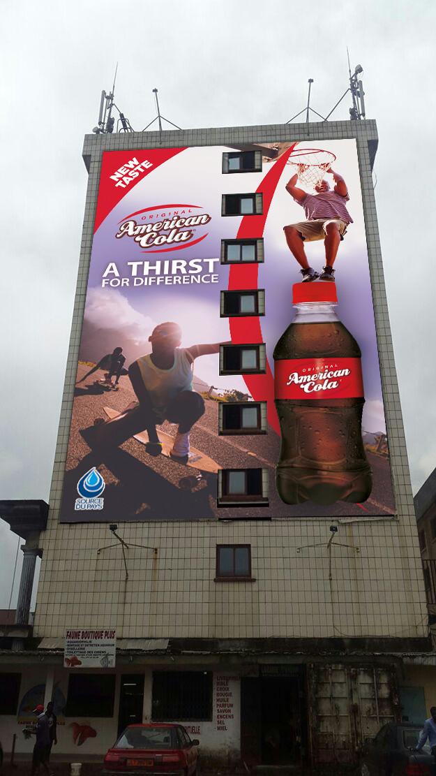 DA Campagne Facade immeuble AMERICAN COLA par Auduge dit ALACASA
