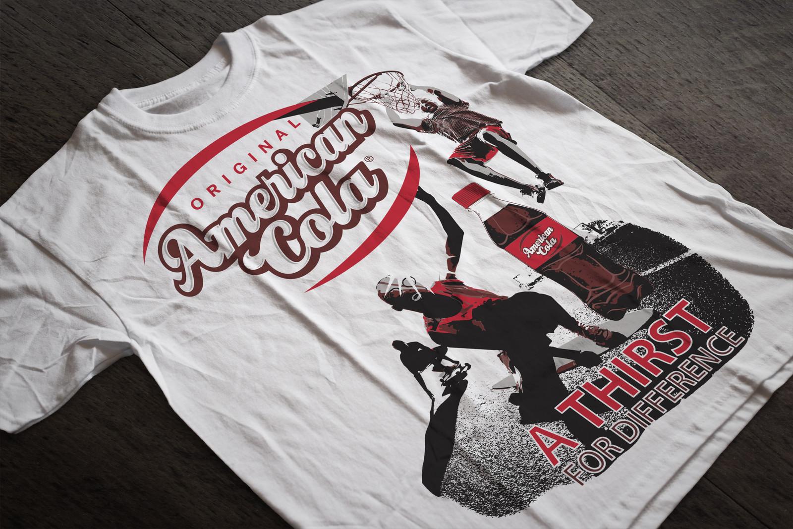 DA Illustration vectoriel  Tshirt Campagne AMERICAN COLA par Auduge dit ALACASA