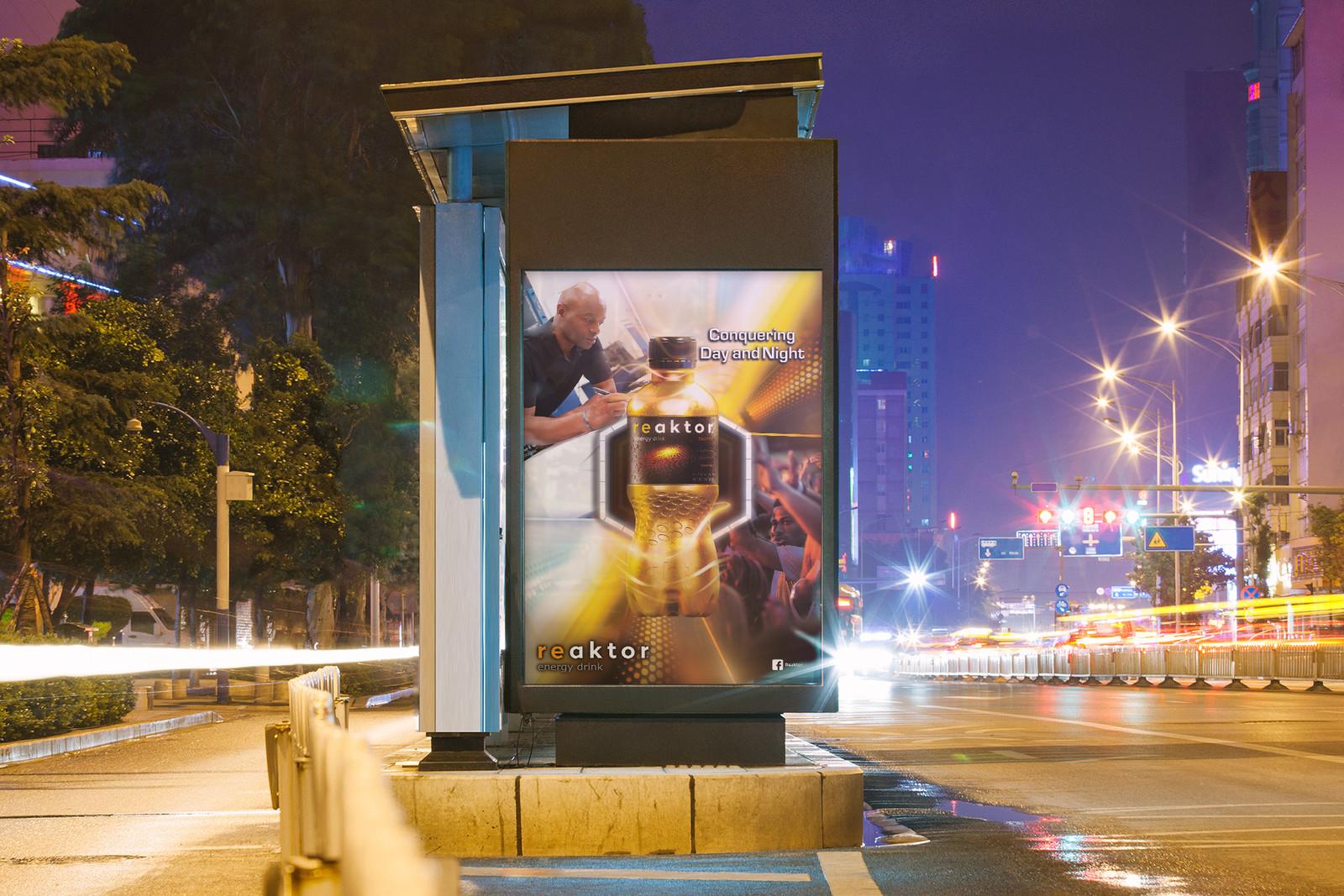 DA affiche 60x40 campagne REACTOR par Auduge dit ALACASA