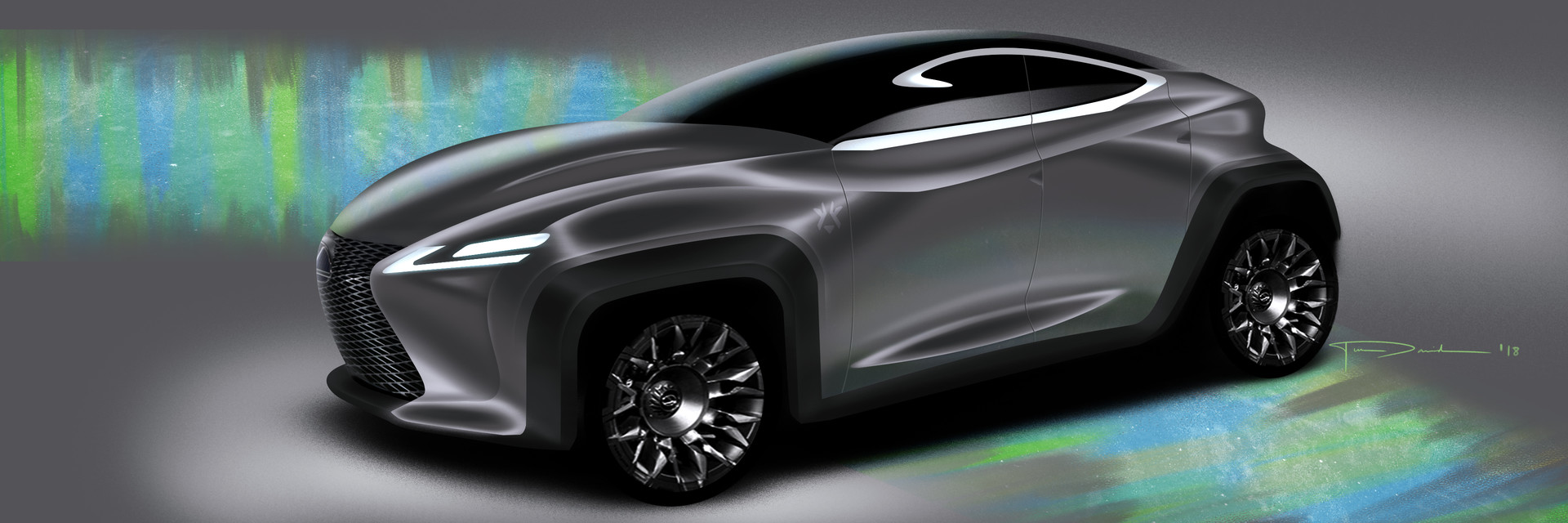 Ilel David Lexus Suv Sketch Video Process Car Lsk