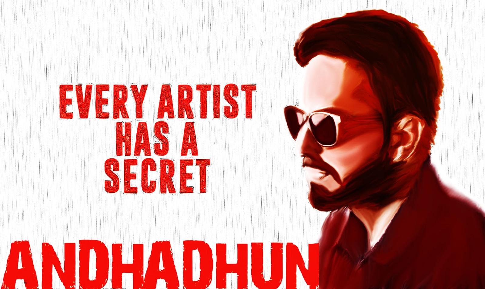 Artstation Andhadhun Movie Poster Ayushmann Khurrana Ashish Andhariya