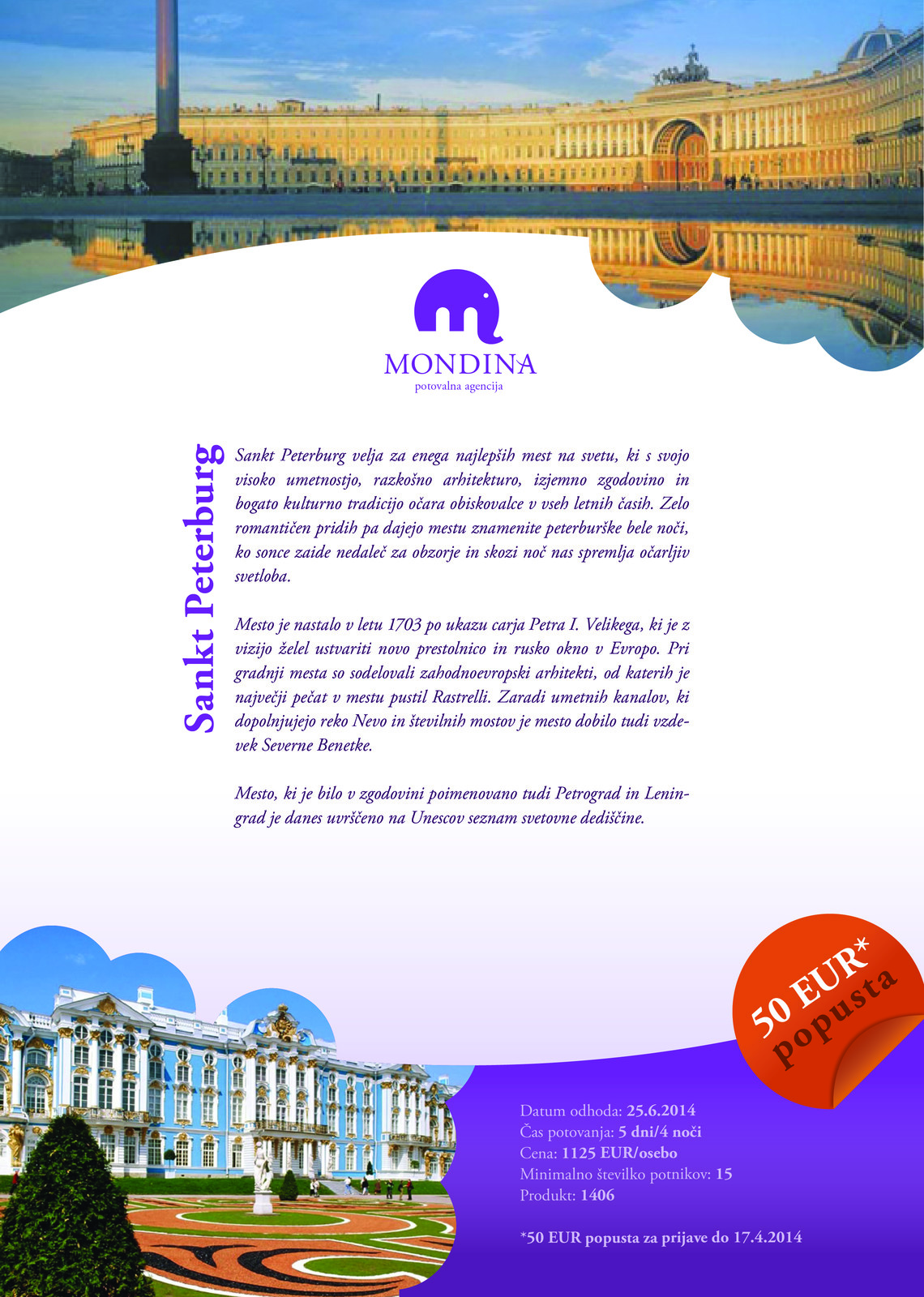Flyer for Mondina